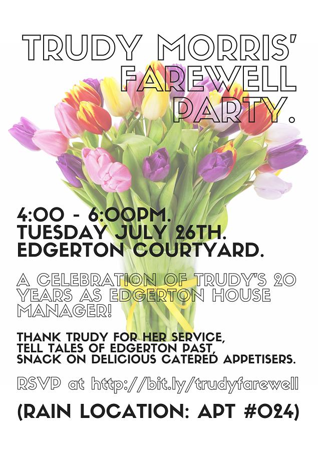 Trudy Morris farewell mini